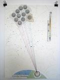 11 Down by Michelle Abbott, Drawing, Paper collage with watercolour, pencil, cotton and ink