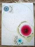 4T, X3 by Michelle Abbott, Drawing, Paper collage with watercolour, pencil, cotton and ink