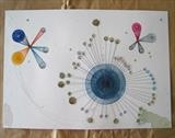 M R Commission by Michelle Abbott, Drawing, Watercolour, inks, collage and silk threads.